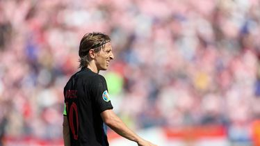 Luka Modrić na utakmici protiv Walesa