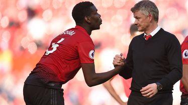 Paul Pogba i Ole Gunnar Solskjaer (Foto: AFP)