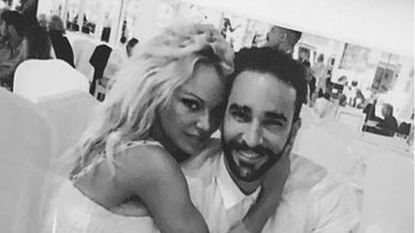 Pamela Anderson i Adil Rami (Foto: Instagram)