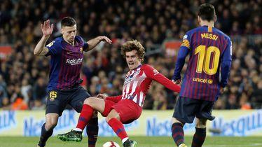 Antoine Griezmann, Clement Lenglet i Lionel Messi