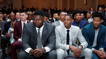 Zion Williamson prati NBA Draft Lottery