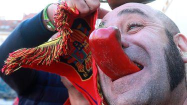 Španjolski navijači u Zagrebu