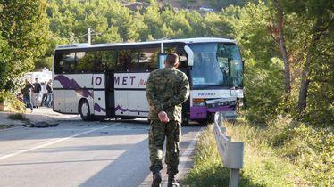Sudar dva autobusa i auta kod Klisa (Foto: Ivo Cagalj/PIXSELL)