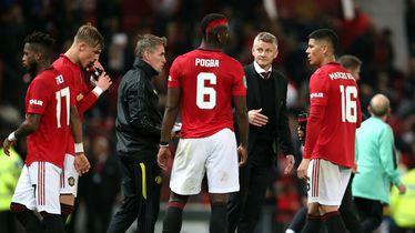 Solskjaer i igrači Manchester Uniteda