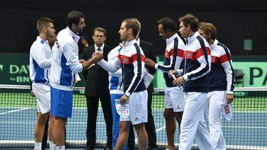 Hrvatska i Francuska u polufinalu Davis Cupa 2016. godine (Foto: Hrvoje Jelavic/PIXSELL)