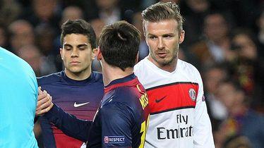 Lionel Messi i David Beckham