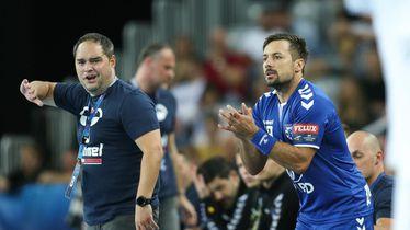 Branko Tamše i Zlatko Horvat, trener i kapetan PPD Zagreba