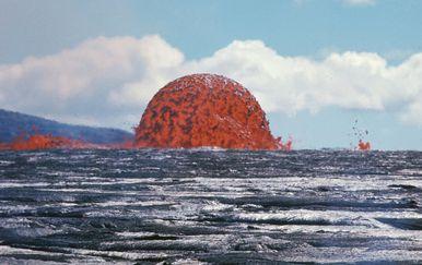 Kupola od lave uočena na Havajima 11. listopada 1969. godine (Foto: J.B. Judd/USGS)