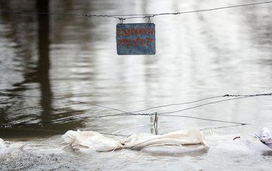 Poplava u Hrvatskoj Kostajnici (Foto: Slavko Midzor/PIXSELL)