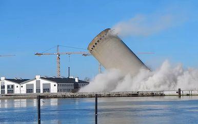 Silos u Vordingborgu pao je na krivu stranu (FOTO: YouTube/Screenshot)