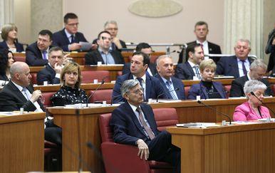 Zastupnici HDZ-a u Saboru (Foto: Patrik Macek/PIXSELL)