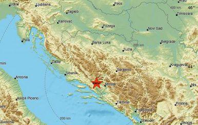 Potres u BiH (Foto: emsc-csem.org)