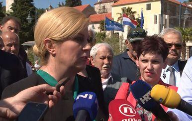 Predsjednica o incidentu u Beogradu (Foto: Dnevnik.hr)