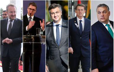 Bakir Izetbegović, Aleksandar Vučić, Andrej Plenković, Miro Cerar i Viktor Orban (Foto: Arhiva/AFP)