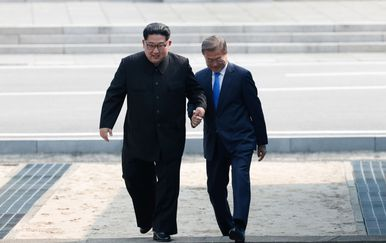 Kim Jong Un i Moon Jae In (Foto: Getty Images)