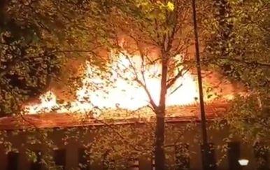 Požar u Đurđevcu (Screenshot: Podravski List Video/YouTube)