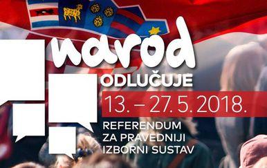 """Građanska inicijativa \""""Narod odlučuje\"""" (Screenshot Facebook)"""