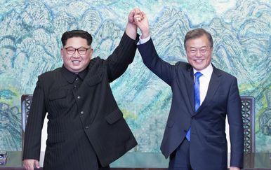Kim Jong Un i Moon Jae-in (Foto: AFP)