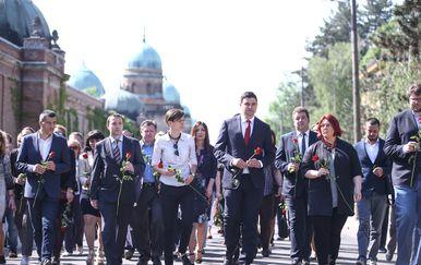 Članovi SDP-a položili ruže na grob Ivice Račana povodom obljetnice njegove smrti (Foto: Igor Soban/Pixsell) - 4