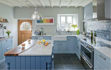 Ideje za uređenje kuhinje u plavoj boji - 5