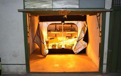 Zagrebačka policija pronašla improvizirani laboratorij u garaži (Foto: Zagrebačka policija)