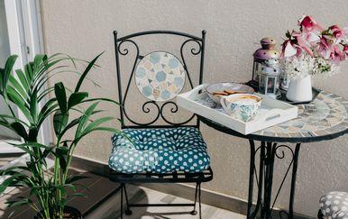 Marselin balkon idealan je za ispijanje prve jutarnje kave