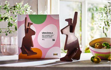 Trodijelni zec od čokolade iz IKEA-e
