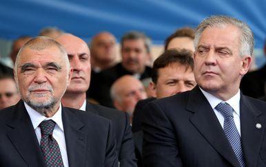 Stjepan Mesić i Ivo Sanader (Foto: Sanjin Strukic/PIXSELL)