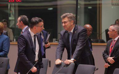 Slovenski premijer Marjan Šarec i Andrej Plenković (Foto: Tomislav Krasnec/PIXSELL)