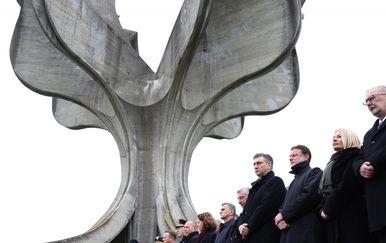 Predsjednici Vlade i Sabora na komemoraciji u Jasenovcu (Foto: Marko Prpic/PIXSELL)