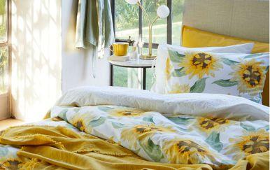H&M Home posteljina na suncokrete