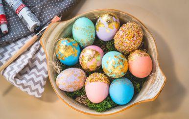 Pastelno- zlatna uskrsna jaja na tri načina