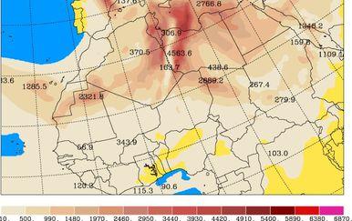 Oblak saharskog pijeska (Foto: Sever Weather Europe) - 2