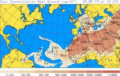 Satelitske predikcije rute oblaka prašine (University of Athens) - 5