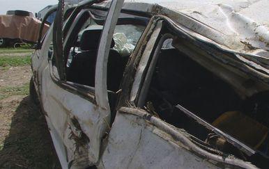 Smrskani automobil u kojem su život izgubile četiri osobe (Foto: Dnevnik.hr)