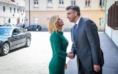 Kolinda Grabar-Kitarović i Andrej Plenković (Foto: Josip Regovic/PIXSELL)