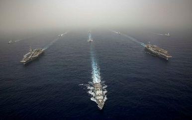 Vojna vježba na Mediteranu (Foto: AFP)
