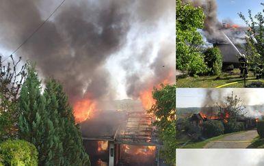 Požar u Hrvatskoj Kostajnici (Foto: vatrogasci Hrvatska Kostajnica)