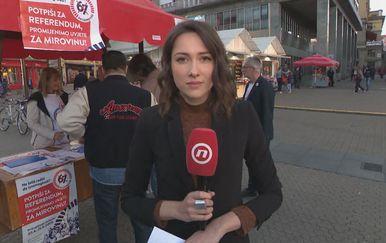 Sanja Vištica o prikupljanju potpisa za referendum (Foto: Dnevnik.hr)