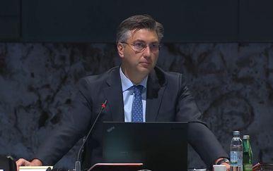 Andrej Plenković na sjednici Vlade
