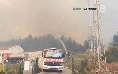 Požar na Korčuli