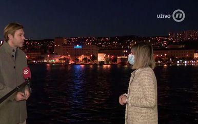Ivan Šarar, pročelnik za kulturu Grada Rijeke, i Katarina Jusić