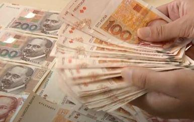 Novac u rukama, ilustracija