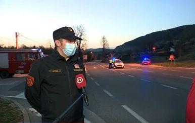 Hrvoje Ostović, vatrogasni zapovjednik Ličko-senjske županije, i Marko Balen