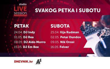 Svakog petka i subotu donosimo vam UŽIVO nastupe vrhunskih hrvatskih DJ-eva