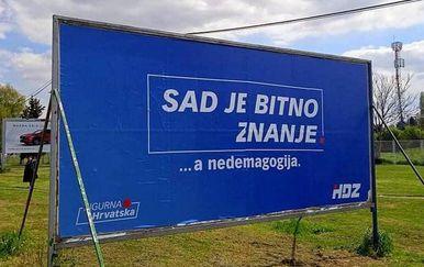 Greška na plakatu HDZ-a