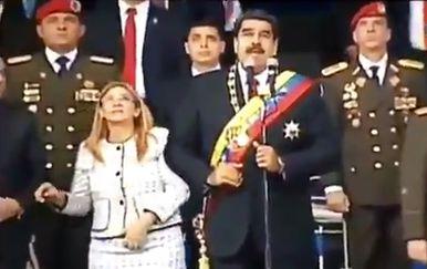 Nicolas Maduro i njegova supruga Cilia Flores (Foto: AFP)