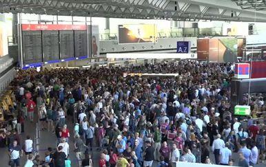 Kaos na aerodromu u Frankfurtu (Foto: Dnevnik.hr)