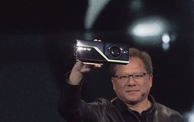 Jensen Huang i Quadro RTX GPU (Foto: Nvidia Flickr)