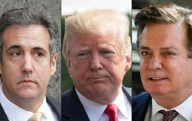 Michael Cohen, Donald Trump i Paul Manafort (Foto: AFP)